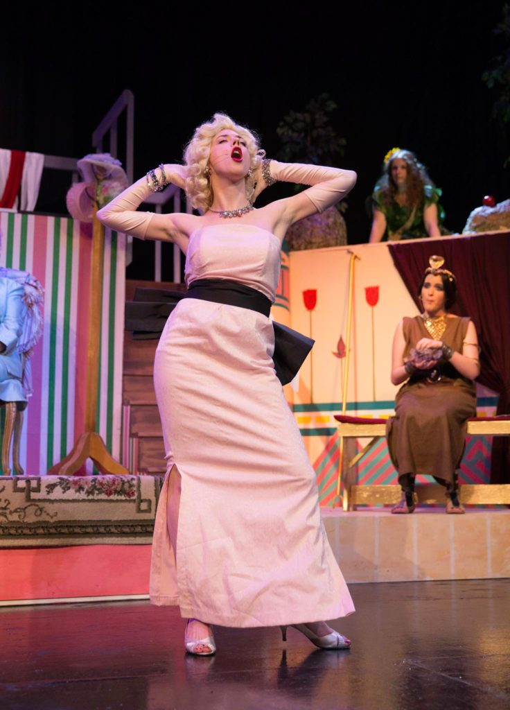Hilary Scott as Marilyn Munroe in Herstory.