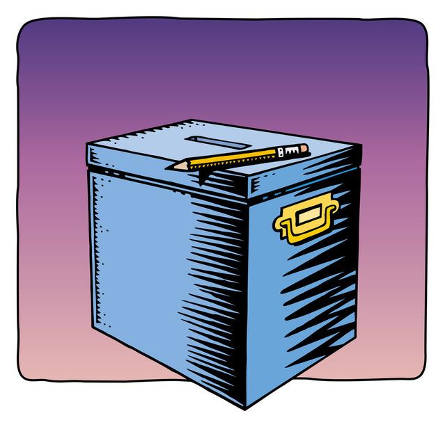 Drawing of a ballot box