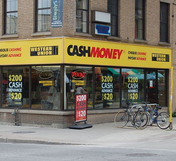 Payday loan store.