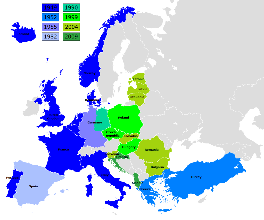 Map showing NATO expansion.