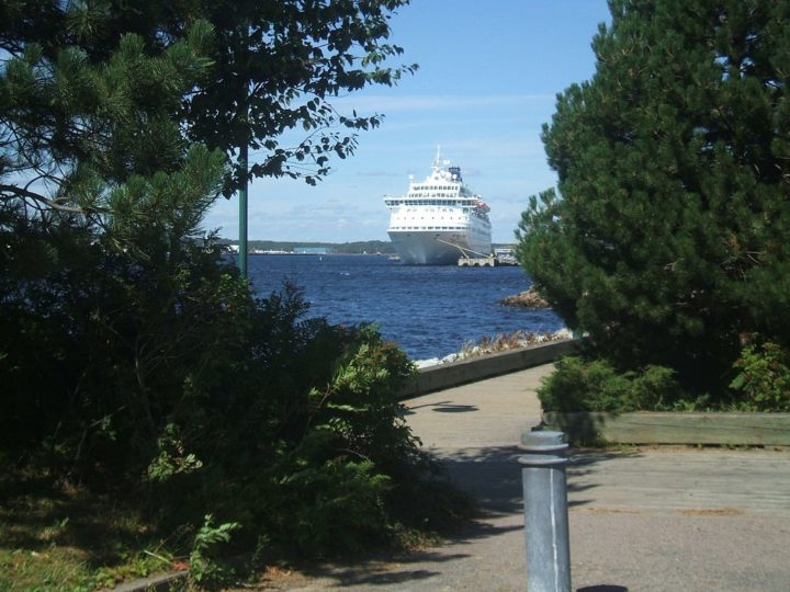 Norwegian Majesty in Sydney, N.S. harbor.