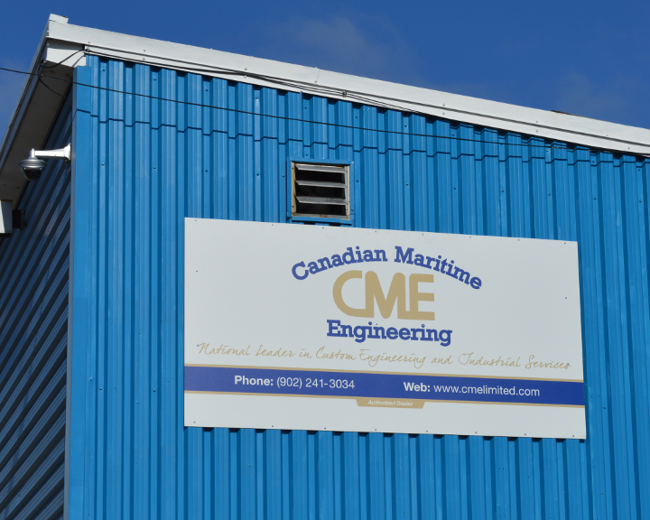 Canadian Maritime Engineering Ltd. sign, North Sydney