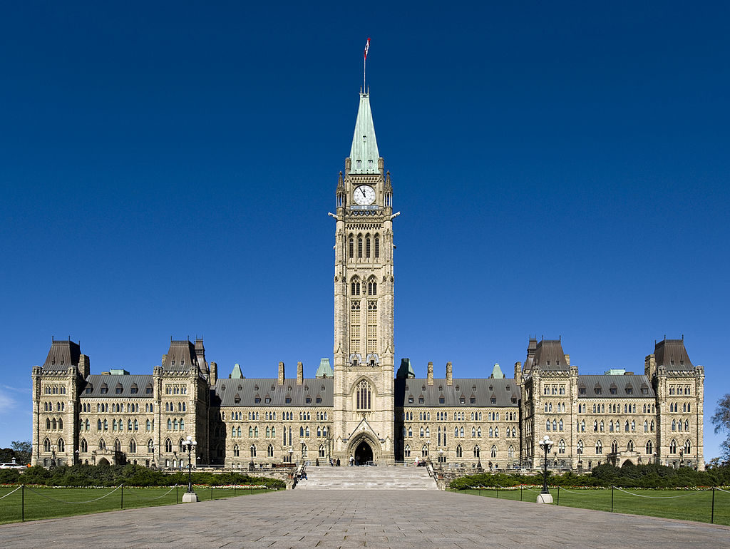 Center Bloc, Canadian Parliament (Photo by Saffron Blaze (Own work) [CC BY-SA 3.0 (http://creativecommons.org/licenses/by-sa/3.0)], via Wikimedia Commons