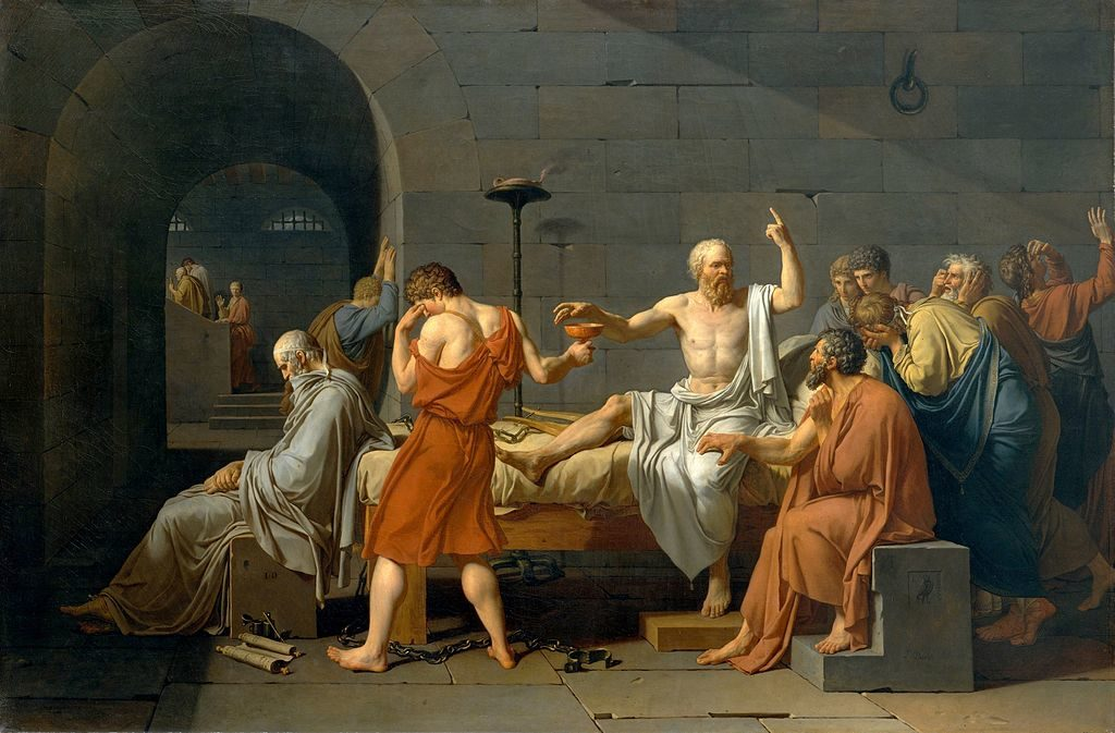 The Death of Socrates, Jacques-Louis David, 1748-1825