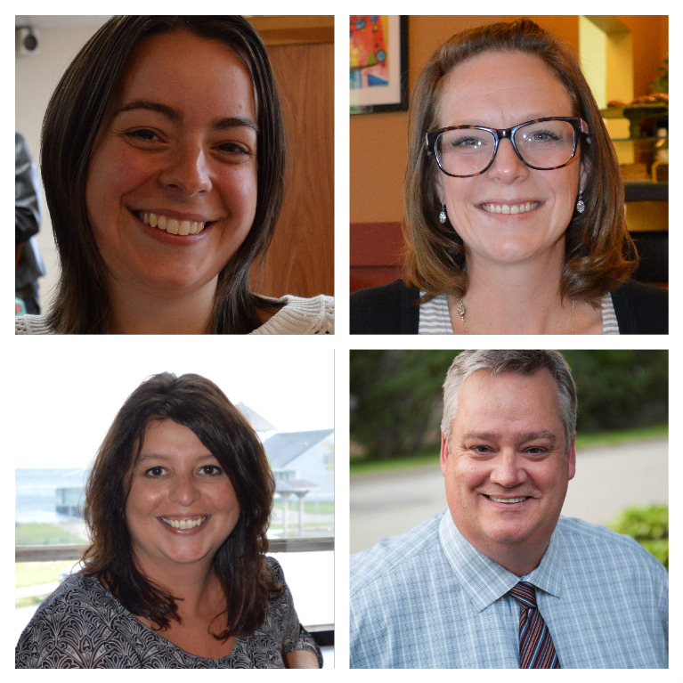 Clockwise from top left: Amanda MacDougall (District 8), Steve Gillespie (District 4), Earlene MacMullin (District 2) and Kendra Coombes (District 11).