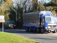 Special nuclear materials convoy, Aldermaston. (Photo via AWPC)