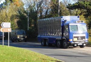 Special nuclear materials convoy, Aldermaston.