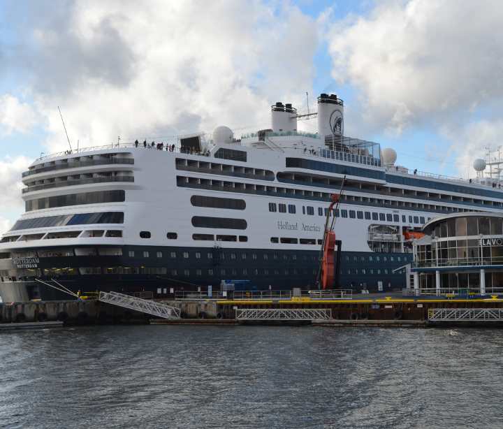 MS Rotterdam docked in Sydney, Nova Scotia
