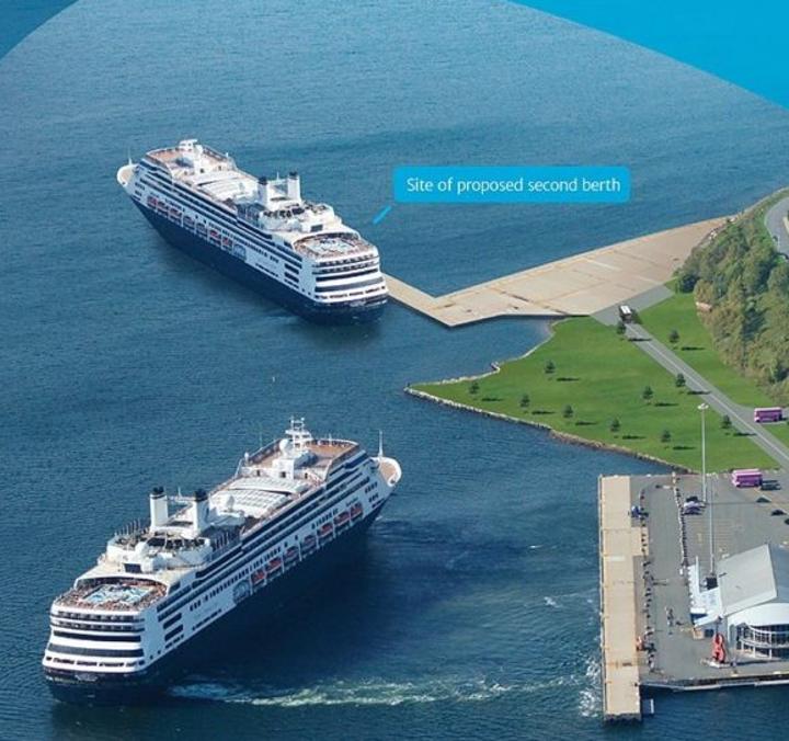 Artist's rendition second cruise berth Sydney, NS