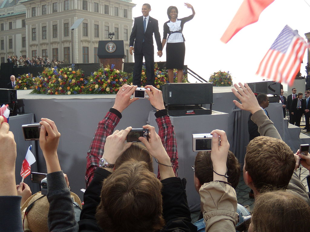 Barack and Michelle Obama, Prague. By adrigu [CC BY 2.0 (http://creativecommons.org/licenses/by/2.0)], via Wikimedia Commons