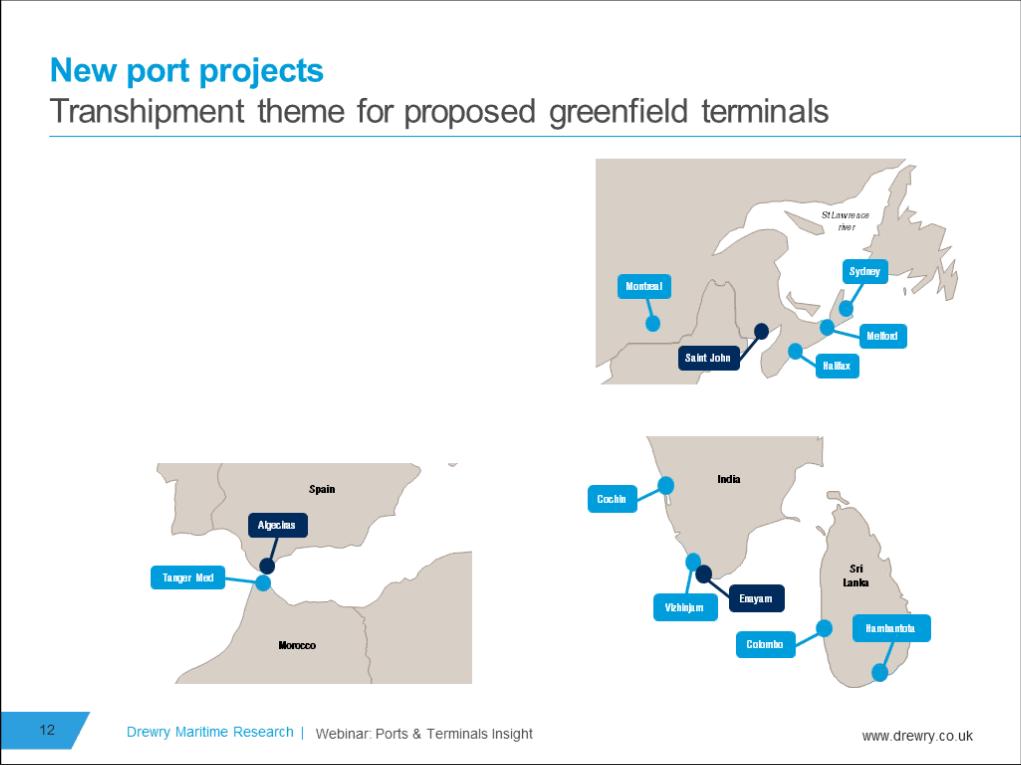 Slide from Drewry Ports & Terminals Market webinar, January 2017