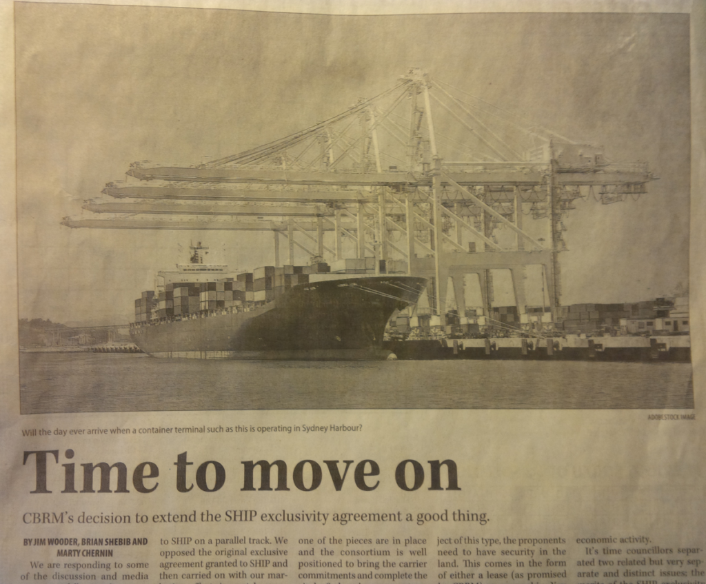 """Cape Breton Post op-ed, """"Time to move on"""""""