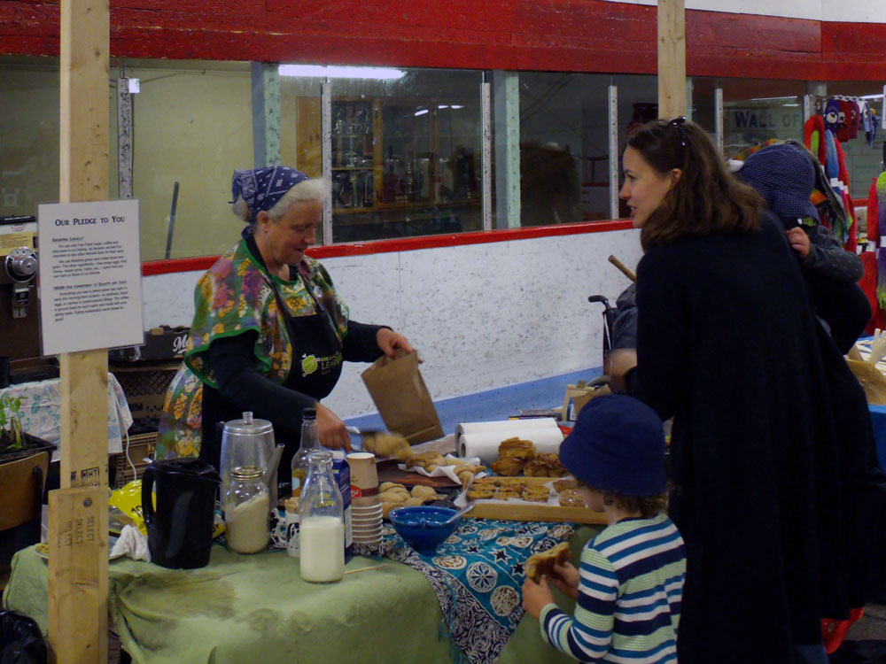 Michelle Smith at Mabou Farmers' Market (Photo via Mabou Farmers' Market website) http://www.maboufarmersmarket.ca/