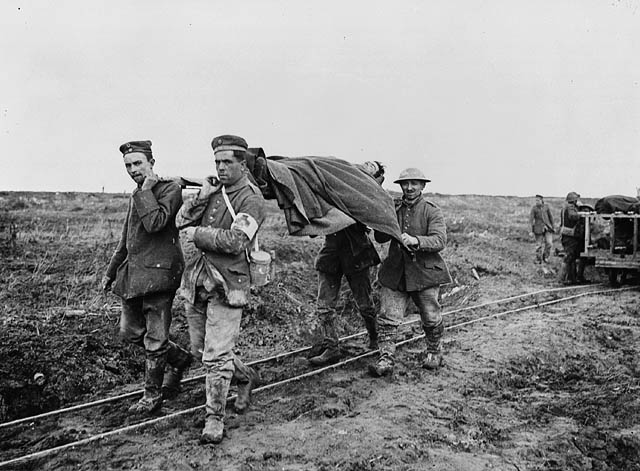 Vimy wounded. April 1917. (Source: Library and Archives Canada)