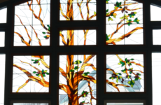 Stained-glass window, McConnell Library, Sydney, Nova Scotia (Spectator photo)