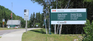"""(Photo via Canadian Public Transit Discussion Board https://cptdb.ca/topic/15804-the-englishtown-ns-ferry/)"""" width=""""300"""" height=""""200"""" /></a> Entrance CB Highlands National Park (Photo via <a href=""""https://cptdb.ca/topic/15804-the-englishtown-ns-ferry/"""" target=""""_blank"""">Canadian Public Transit Discussion Board</a> )"""