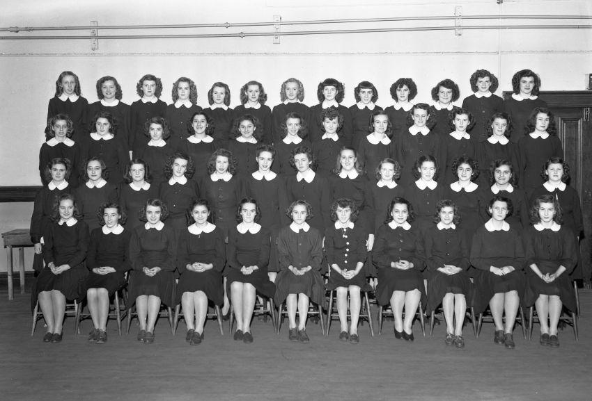 Holy Angels Convent Choir circa 1940. (Photo by Abbass Studios via Beaton Institute Art exhibit at Holy Angels Convent circa 1940 (Photo by Abbass Studios via Beaton Institute Teachers and students outside Holy Angels Convent circa 1885. (Photo via Beaton Institute Class at Holy Angels Convent circa 1945. (Photo by Abbass Studios via Beaton Institute https://beatoninstitute.com/)