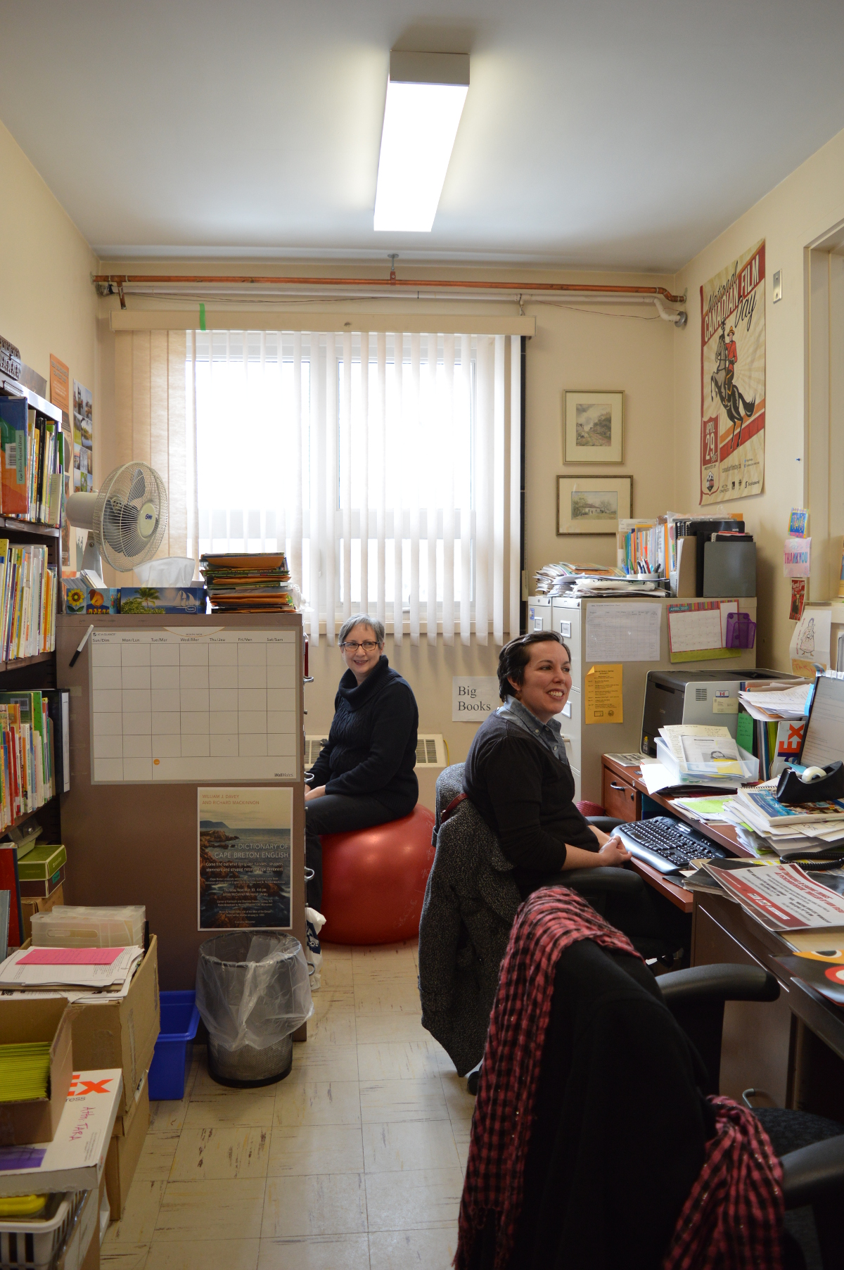 Chris Thompson (l) and Tara MacNeil (r). Planning big events in a small space.