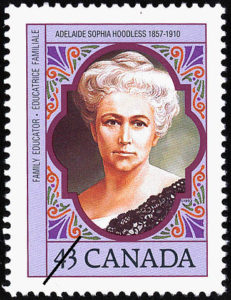 Adelaide Sophia Hoodless, 1993 Canadian stamp. (Source: http://collectionscanada.gc.ca/pam_archives/index.php?fuseaction=genitem.displayItem&lang=eng&rec_nbr=2266356)