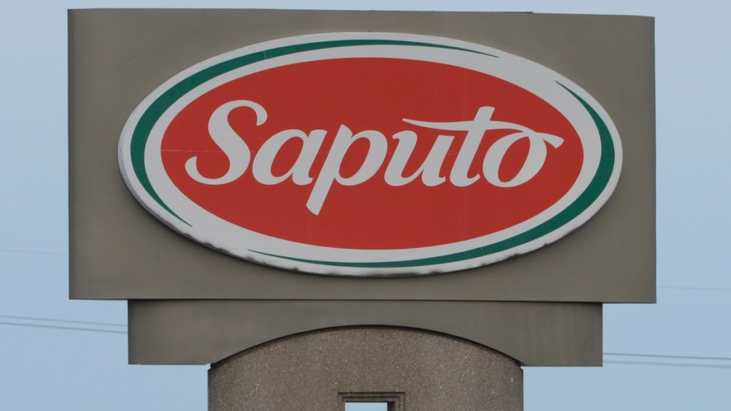 Saputo sign. (Photo via CBC http://www.cbc.ca/news/business/saputo-plants-close-1.3502612)