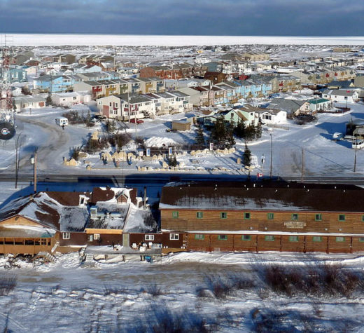 Churchill, Manitoba viewed from a helicopter. By Peterfitzgerald (Own work) [CC BY-SA 3.0 (http://creativecommons.org/licenses/by-sa/3.0)], via Wikimedia Commons