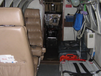 King Air 200 air ambulance interior. (Photo Public Domain via Wikimedia Commons)