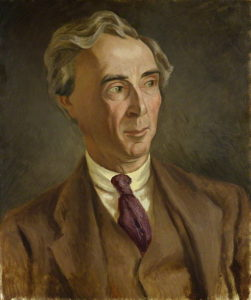 Bertrand Russell, oil painting by Roger Fry, 1923. (Public Domain via Wikimedia Commons)