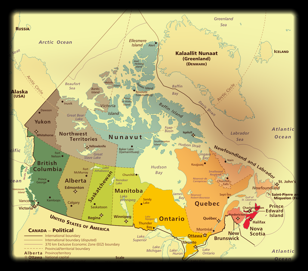 Map Of Canada Davis Strait.O Canada An Anthem For All The Cape Breton Spectator