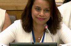 Ambasssador Elayne Whyte Gómez, Permanent Representative of Costa Rica to the UN Office at Geneva (UNOG) and President of the Conference. (Source: United Nations)