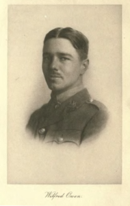 Portrait of Wilfred Owen, found in a collection of his poems from 1920. (Public Domain, via Wikimedia Commons)