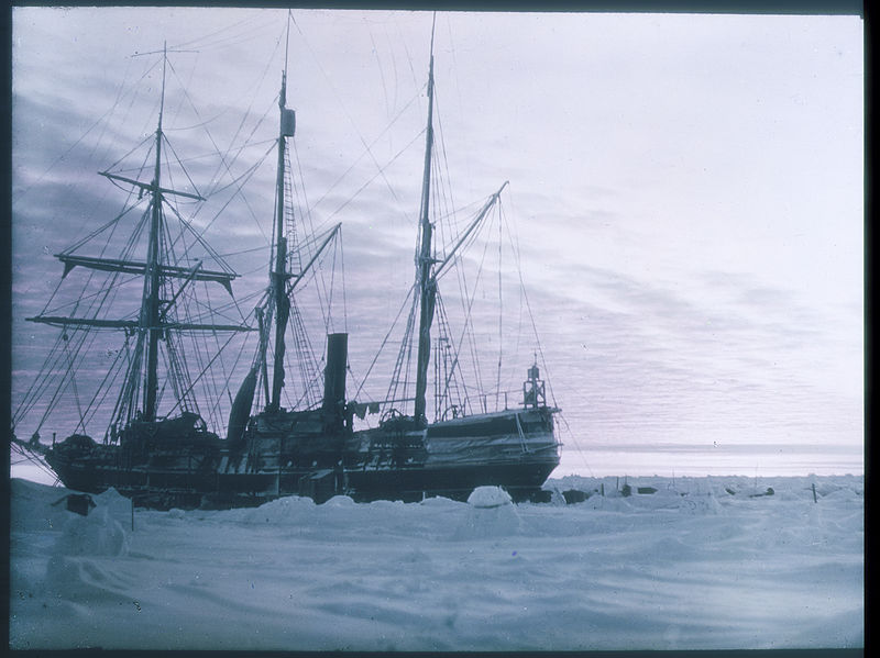 Photograph of the ship Endurance in Antarctica taken by Australian photographer Frank Hurley during the British Imperial Trans-Antarctic Expedition, 1914-1917 (State of New South Wales Library, Public Domain, via Wikimedia Commons)