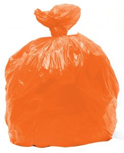 orange trashbag