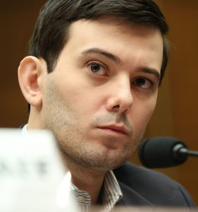 Martin Shkreli testifying before House Committee on Oversight and Government Reform, 2016, Public Domain, via Wikimedia Commons