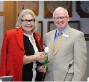 Olds, Alberta Mayor Judy Dahl and former CBRM CAO now Olds CAO Michael Merritt.