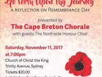 Cape Breton Chorale: Go Forth Upon Thy Journey