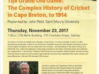 Old Sydney Society: The Complex History of Cricket in Cape Breton