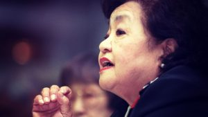 Setsuko Thurlow. (Photo via ICAN http://www.icanw.org/hear-the-stories/setsuko-thurlow/)
