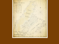 Chart of Cape Breton Island, 1767. Unsigned but presumed to be the work of Joseph Frederick Wallet Desbarres, modelled after Samuel Holland. (Source: Beaton Institute  https://beatoninstitute.com/)