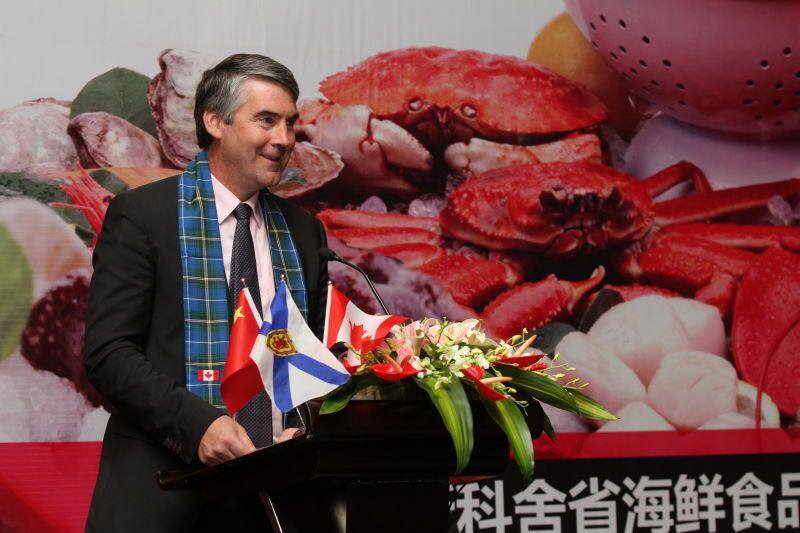 This is a picture of Stephen McNeil in Guangzhou, China on 7 September 2014.