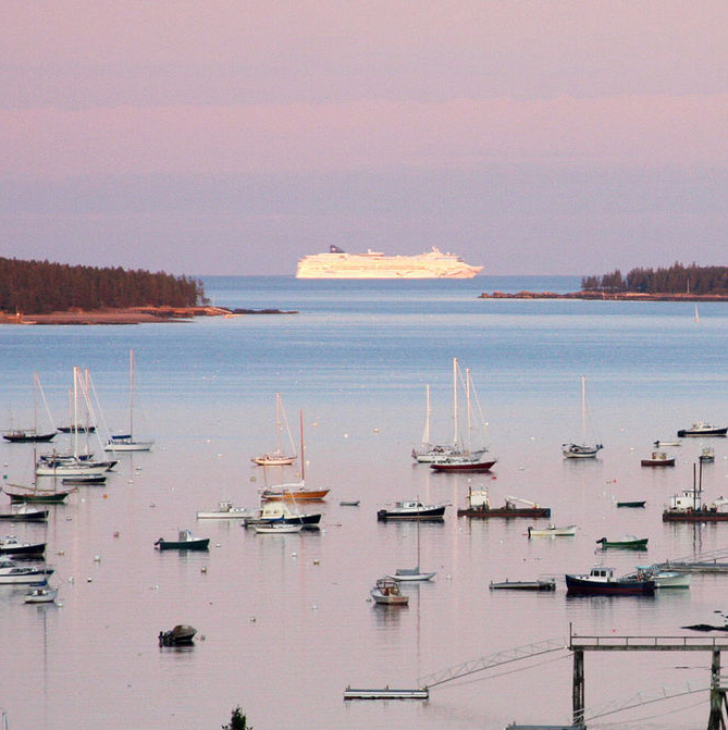 Bar Harbors Novel Approach To Cruise Ship Berth Ask Citizens - Cruise ship bar harbor