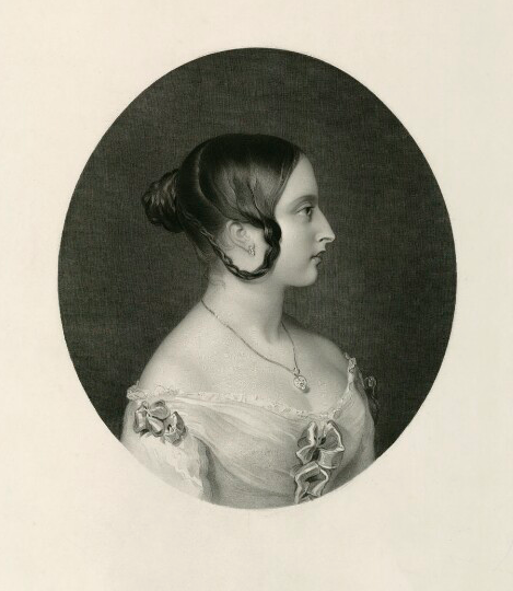 Queen Victoria by Henry Thomas Ryall, published by Colnaghi and Puckle, after Sir William Charles Ross stipple and line engraving, published 1842. (National Portrait Gallery https://www.npg.org.uk/collections/search/portraitLarge/mw145609/Queen-Victoria?search=sp&sText=Queen+Victoria+1842&firstRun=true&rNo=2 )