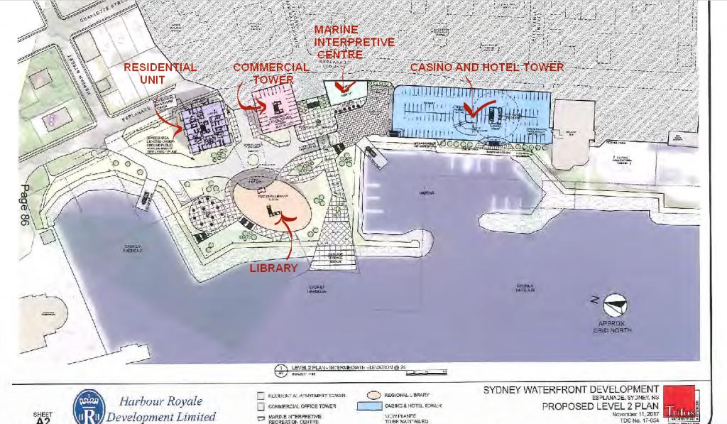 Harbour Royale Development Ltd's Sydney waterfront plan.