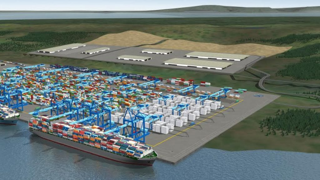 Rendering of Melford container terminal.