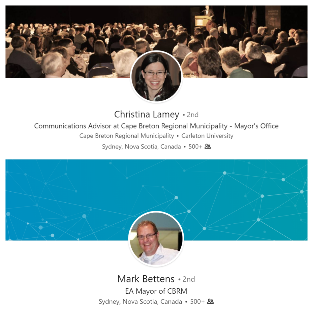 Christina Lamey, Mark Bettens, LinkedIn profiles
