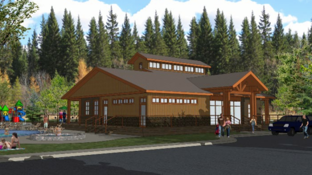 Artist's rendering of Ceilidh on the Lakes RV Park club house. (. (Ceilidh on the Lakes RV Campground/Facebook)