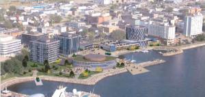 Sydney waterfront development concept.