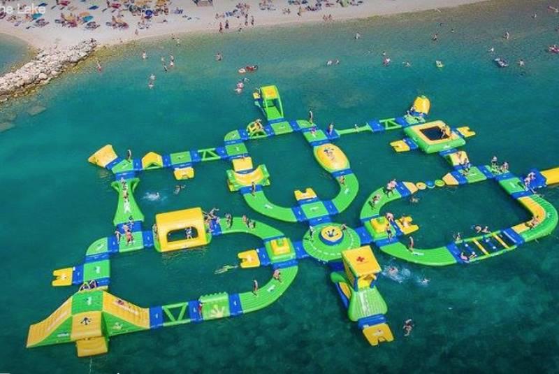 Water playground.