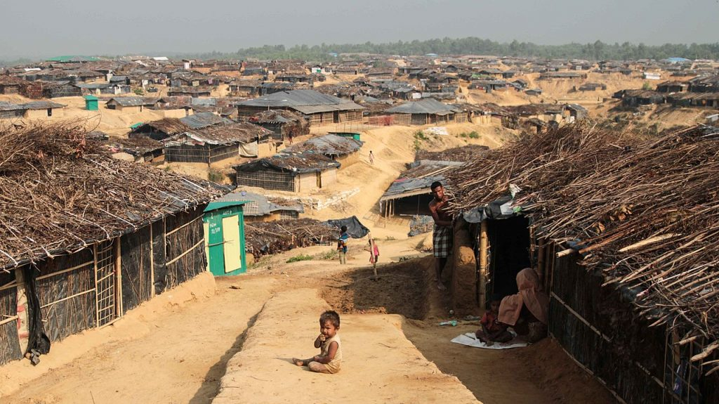 Kutupalong Refugee Camp in Cox's Bazaar, Bangladesh. (Photo by John Owens, VOA, Public Domain, via Wikimedia Commons)