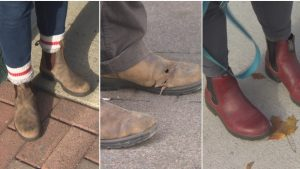 Totally not the kind of Boots on the Streets Peter McIsaac is talking about. (Photo by Ted Dillon/CBC)