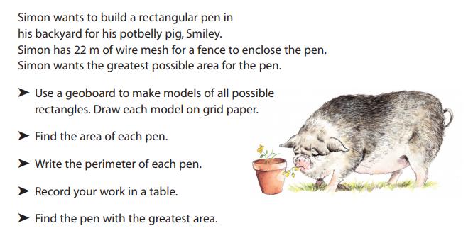 Source: Pearson Math Makes Sense (Grade 5)